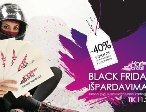 Kartlandas Black Friday: Juodai mažos pasivažinėjimų kartingais kainos!