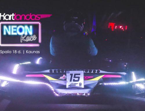 Dalyvauk kartingo lenktynėse – Neon Race by Kartlandas