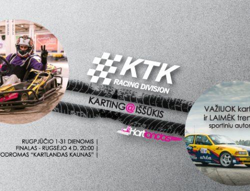 """Laimėk treniruotę simuliatoriuje ir """"KTK Racing division"""" komandos sportiniu automobiliu. REGISTRACIJA"""