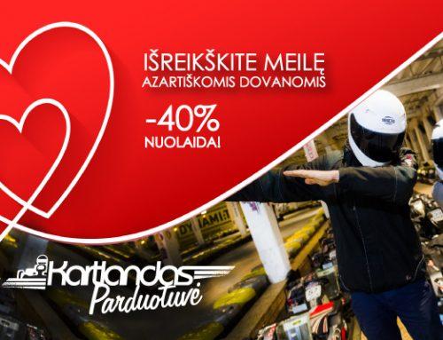 Specialus Valentino dienos pasiūlymas. -40% KUPONAMS!